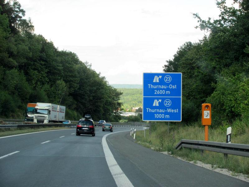 Urlaub Fahrt Autobahn