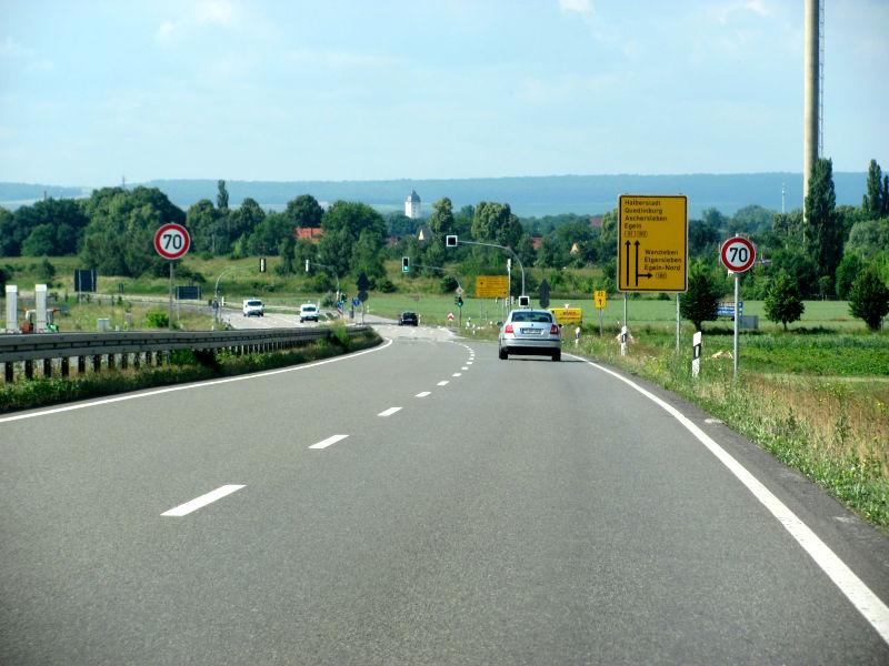 B81 Egeln Richtung Halberstadt