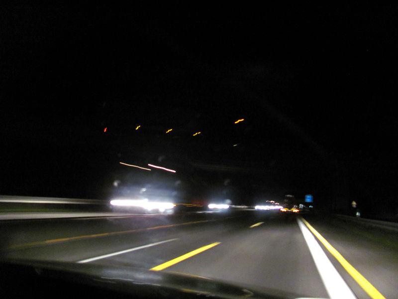 Autobahn bei starken Regen