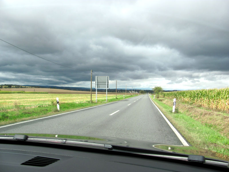 Gas weg Landstraße