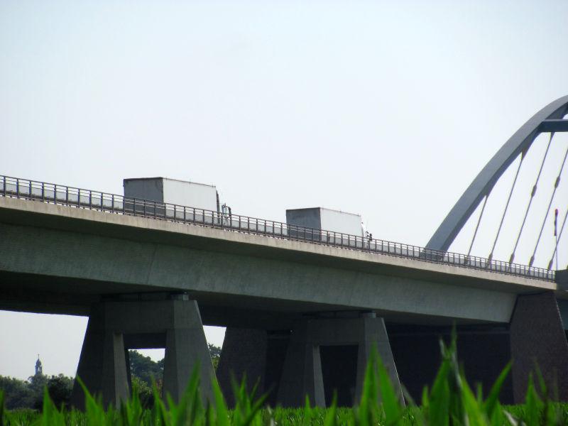 Seitenwind Autobahn