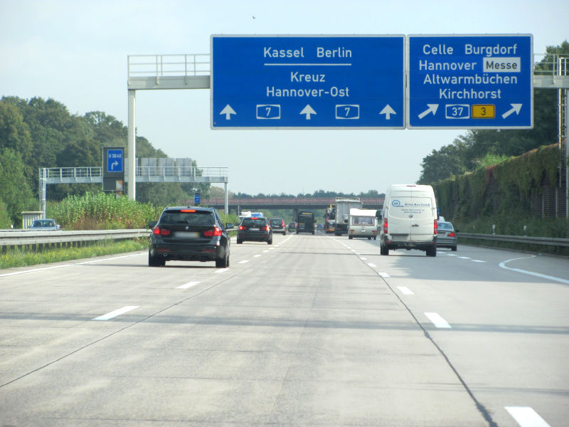 Autobahn Werbung