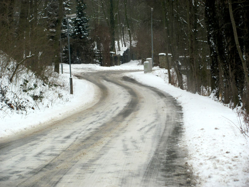 Straße Schnee