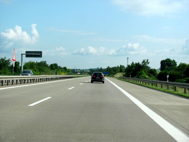 Autobahnfahrt A14