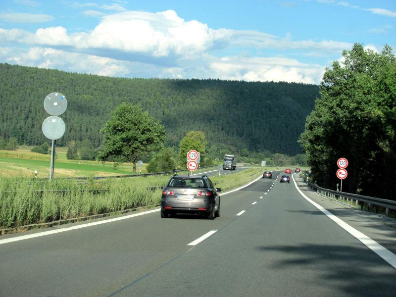 Autobahnfahrt A73