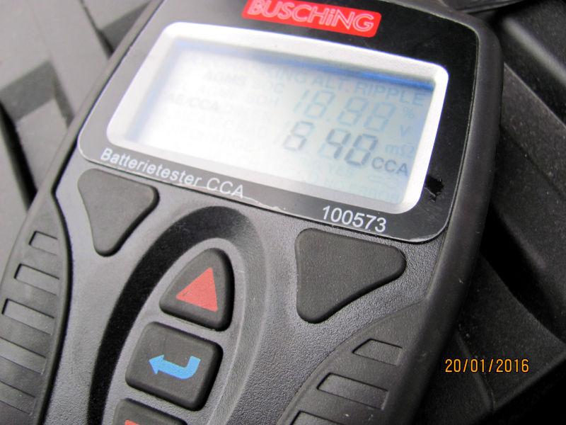 Die Batterie testen